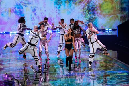 victorias secret show: LONDON, ENGLAND - DECEMBER 02: Singer Ariana Grande performs at the annual Victorias Secret fashion show on December 2, 2014 in London, England.