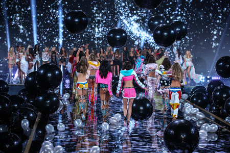 finale: LONDON, ENGLAND - DECEMBER 02: Models during 2014 VS Fashion Show finale on December 2, 2014 in London, England. Editorial