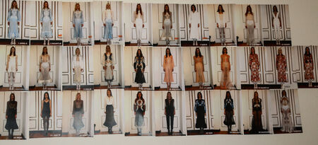 femenine: MILAN, ITALY - SEPTEMBER 17: A model getting ready backstage during the Francesco Scognamiglio show as part of Milan Fashion Week Womenswear SpringSummer 2015 on September 17, 2014 in Milan, Italy.