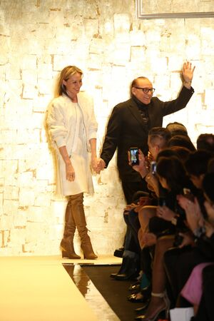 leger: NEW YORK, NY - FEBRUARY 14: Max Azria and Lubov Azria walks the runway at Herve Leger by Max Azria fashion show during Mercedes-Benz Fashion Week Fall 2015 at Lincoln Center on February 14, 2015 in New York City