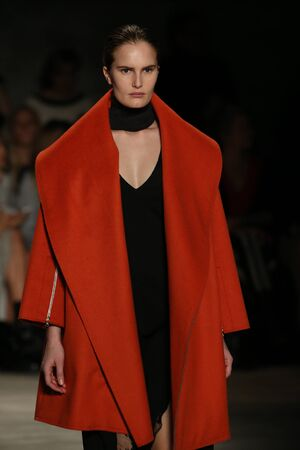 supermodel: NEW YORK, NY - FEBRUARY 12: Alla Kostromichova walks the runway at the Tome fashion show during Mercedes-Benz Fashion Week Fall 2015 at Lincoln Center on February 12, 2015 in New York City. Editorial