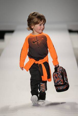 levis: NEW YORK, NY - FEBRUARY 12: Models walk the runway at the Nike Levis Kids fashion show during Mercedes-Benz Fashion Week Fall 2015 at Lincoln Center on February 12, 2015 in NYC