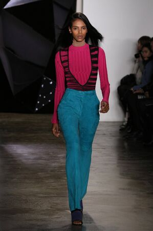 alexa: NEW YORK, NY - FEBRUARY 12: Model walks the runway during Ohne Titel runway show during MADE Fashion Week Fall 2015 at Milk Studios on February 12, 2015 in NYC