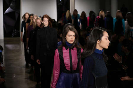 alexa: NEW YORK, NY - FEBRUARY 12: Models walk the runway during Ohne Titel runway show during MADE Fashion Week Fall 2015 at Milk Studios on February 12, 2015 in NYC