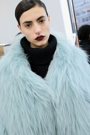 helen: NEW YORK, NY - FEBRUARY 12: Models poses during Helen Yarmak presentation during MBFW Fall 2015 at 730 Fifth Avenue on February 12, 2015 in NYC