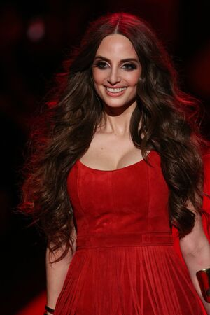 NEW YORK, NY - FEBRUARY 12: Alexa Ray Joel walks the runway at the Go Red For Women Red Dress Collection 2015 presented by Macys fashion show during MBFW Fall 2015 at Lincoln Center on February 12, 2015 in NYC