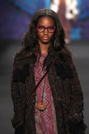williams: NEW YORK, NY - FEBRUARY 18: Model Tami Williams walks the runway at the Anna Sui fashion show during MBFW Fall 2015 at Lincoln Center on February 18, 2015 in NYC