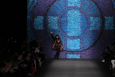 sui: NEW YORK, NY - FEBRUARY 18: Anna Sui walks the runway at the Anna Sui fashion show during MBFW Fall 2015 at Lincoln Center on February 18, 2015 in NYC
