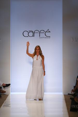 to paula: MIAMI, FL - JULY 20: Designer Paula Saavedra walks the runway at the Caffe Swimwear during MBFW Swim 2015 at The Raleigh hotel on July 20, 2014 in Miami, FL.