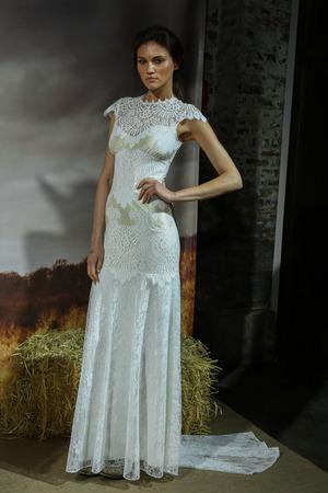 barn girls: NEW YORK, NY - APRIL 17: A model walks at the Claire Pettibone Bridal SpringSummer 2016 Runway Show at Industry Studios on April 17, 2015 in NYC Editorial