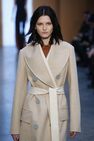 aas: NEW YORK, NY - FEBRUARY 15: Model Katlin Aas walk the runway at the Derek Lam Fashion Show during MBFW Fall 2015 at Pace Gallery on February 15, 2015 in NYC