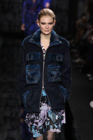 alexandra: NEW YORK, NY - FEBRUARY 15: Model Alexandra Elizabeth walk the runway at the Diane Von Furstenberg fashion show during MBFW Fall 2015 at Spring Studios on February 15, 2015 in NYC