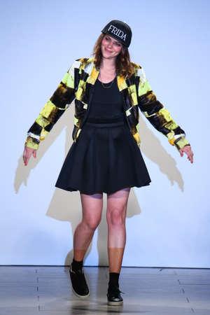 alexandra: NEW YORK, NY - SEPTEMBER 13: Designer Alexandra Frida walks Alexandra Frida runway at the FTL Moda Spring 2016 during NYFW at Vanderbilt Hall at Grand Central Terminal, on September 13, 2015 in NYC. Editorial