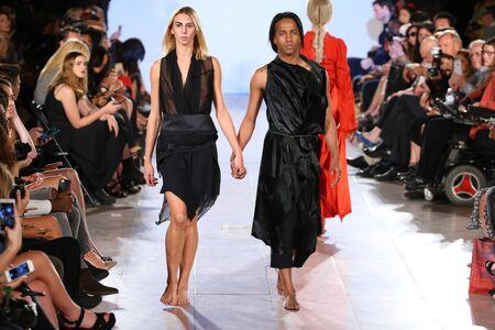 september 2: NEW YORK, NY - SEPTEMBER 13: Models walk Wild runway at the FTL Moda Spring 2016 during NYFW at Vanderbilt Hall at Grand Central Terminal, on September 13, 2015 in NYC.