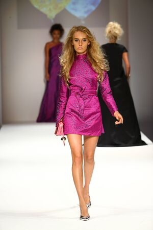 NEW YORK, NY - SEPTEMBER 10: A model walks the runway at the Malan Breton fashion show during Spring 2016 New York Fashion Week at Gotham Hall on September 10, 2015 in New York City.