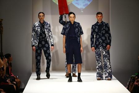 NEW YORK, NY - SEPTEMBER 10: Models walk the runway at the Malan Breton fashion show during Spring 2016 New York Fashion Week at Gotham Hall on September 10, 2015 in New York City.