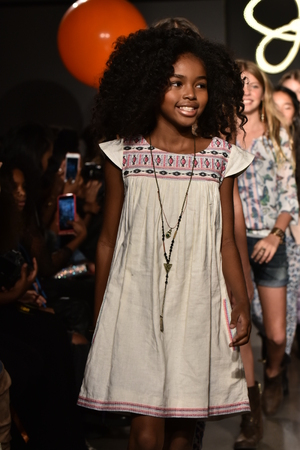 simpson: NEW YORK, NY - OCTOBER 17: Models walk the runway finale  at Jessica Simpson Collection FallWinter 2016 Runway Show during petiteParade at The Spring Studio on October 17, 2015 in NYC.