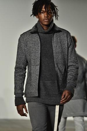 co: NEW YORK, NY - FEBRUARY 04: A model walks runway during the John Elliott + CO New York Fashion Week Mens FallWinter on February 4, 2016 in NYC.