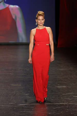 associations: NEW YORK, NY - FEBRUARY 11: Actress Candace Cameron Bure walks the runway at The American Heart Associations Go Red For Women Red Dress Collection 2016 Presented By Macys on February 11, 2016 in NYC.