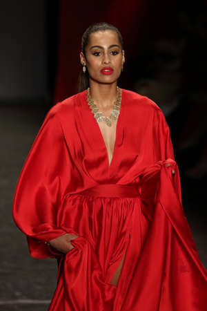 NEW YORK, NY - FEBRUARY 11: Basketball player Skylar Diggins walks the runway at The American Heart Association's Go Red For Women Red Dress Collection 2016 on February 11, 2016 in NYC.