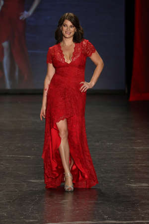associations: NEW YORK, NY - FEBRUARY 11: Food writer Gail Simmons walks the runway at The American Heart Associations Go Red For Women Red Dress Collection 2016 Presented By Macys on February 11, 2016 in NYC. Editorial