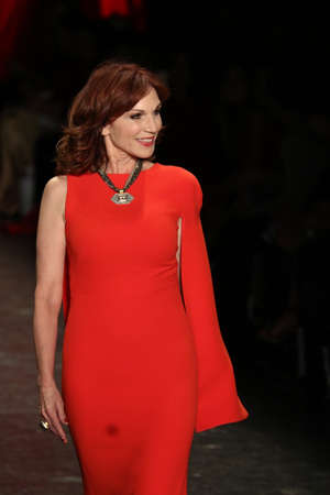 associations: NEW YORK, NY - FEBRUARY 11: Actress Marilu Henner walks the runway at The American Heart Associations Go Red For Women Red Dress Collection 2016 Presented By Macys on February 11, 2016 in NYC. Editorial