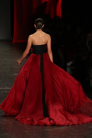 associations: NEW YORK, NY - FEBRUARY 11: Actress Olivia Culpo walks the runway at The American Heart Associations Go Red For Women Red Dress Collection 2016 Presented By Macys on February 11, 2016 in NYC.