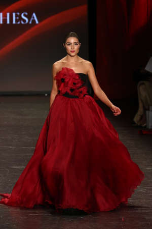 olivia: NEW YORK, NY - FEBRUARY 11: Actress Olivia Culpo walks the runway at The American Heart Associations Go Red For Women Red Dress Collection 2016 Presented By Macys on February 11, 2016 in NYC.