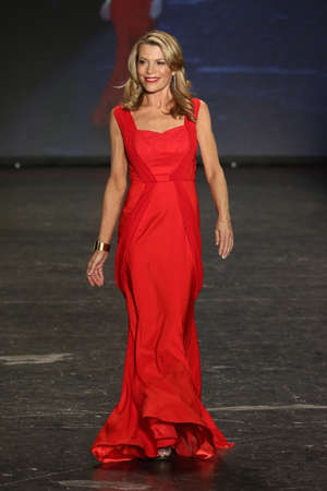 associations: NEW YORK, NY - FEBRUARY 11: Television Personality Vanna White walks the runway at The American Heart Associations Go Red For Women Red Dress Collection 2016 Presented By Macys on February 11, 2016 in NYC.