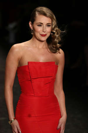 alexa: NEW YORK, NY - FEBRUARY 11: Actress Alexa Vega walks the runway at The American Heart Associations Go Red For Women Red Dress Collection 2016 Presented By Macys on February 11, 2016 in NYC.