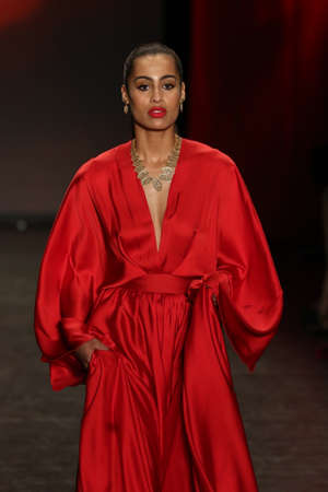 associations: NEW YORK, NY - FEBRUARY 11: Basketball player Skylar Diggins walks the runway at The American Heart Associations Go Red For Women Red Dress Collection 2016 on February 11, 2016 in NYC.