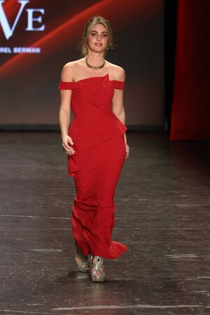 NEW YORK, NY - FEBRUARY 11: Lele Pons walks the runway at The American Heart Associations Go Red For Women Red Dress Collection 2016 Presented By Macys on February 11, 2016 in NYC. Editorial