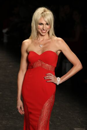associations: NEW YORK, NY - FEBRUARY 11: Singer Debbie Gibson walks the runway at The American Heart Associations Go Red For Women Red Dress Collection 2016 Presented By Macys on February 11, 2016 in NYC.