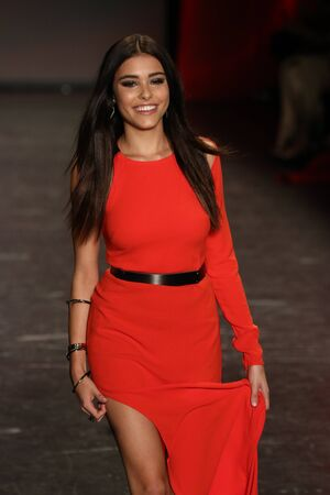 associations: NEW YORK, NY - FEBRUARY 11: Madison Beer walks the runway at The American Heart Associations Go Red For Women Red Dress Collection 2016 Presented By Macys on February 11, 2016 in NYC. Editorial