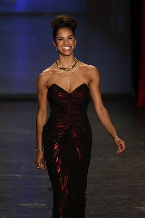 associations: NEW YORK, NY - FEBRUARY 11: Ballerina Misty Copeland walks the runway at The American Heart Associations Go Red For Women Red Dress Collection 2016 Presented By Macys on February 11, 2016 in NYC. Editorial