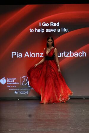associations: NEW YORK, NY - FEBRUARY 11: Miss Universe 2015 Pia Alonzo Wurtzbach walks the runway at The American Heart Associations Go Red For Women Red Dress Collection 2016 Presented By Macys on February 11, 2016 in NYC.