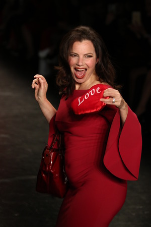 associations: NEW YORK, NY - FEBRUARY 11: Fran Drescher walks the runway at The American Heart Associations Go Red For Women Red Dress Collection 2016 Presented By Macys on February 11, 2016 in NYC. Editorial