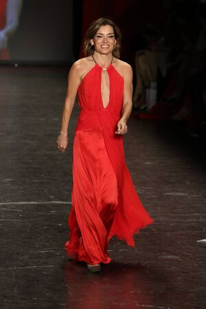 associations: NEW YORK, NY - FEBRUARY 11: Television Personality Kit Hoover walks the runway at The American Heart Associations Go Red For Women Red Dress Collection 2016 Presented By Macys on February 11, 2016 in NYC. Editorial