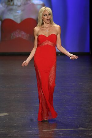 gibson: NEW YORK, NY - FEBRUARY 11: Singer Debbie Gibson walks the runway at The American Heart Associations Go Red For Women Red Dress Collection 2016 Presented By Macys on February 11, 2016 in NYC.
