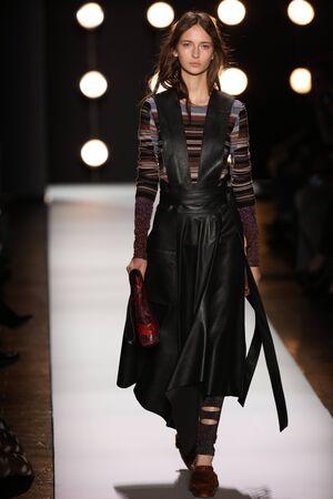 loafer: NEW YORK, NY - FEBRUARY 11: A model walks the runway at the BCBGMAXAZRIA Fall 2016 fashion show during New York Fashion Week  on February 11, 2016 in NYC. Editorial