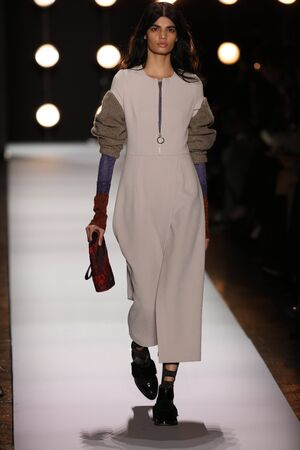 loafer: NEW YORK, NY - FEBRUARY 11: A model walks the runway at the BCBGMAXAZRIA Fall 2016 fashion show during New York Fashion Week  on February 11, 2016 in NYC. Editorial