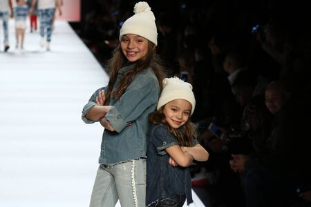 levi: NEW YORK, NY - FEBRUARY 11: Kids perform on the runway during Rookie USA Presents Kids Rock! Fall 2016 at New York Fashion Week on February 11, 2016 in NYC. Editorial