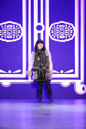 sui: NEW YORK, NY - FEBRUARY 17: Designer Anna Sui greets the audience after the Anna Sui Fall 2016 show during New York Fashion Week on February 17, 2016 in NYC.
