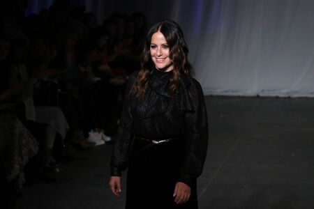 jill: NEW YORK, NY - FEBRUARY 13: Designer Jill Stuart greets the audience after presenting Jill Stuart  Fall-Winter 2016 Collection Show on February 13, 2016 in New York City.