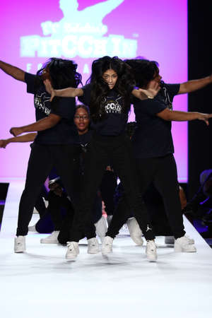 see the usa: NEW YORK, NY - FEBRUARY 11: Performance  on the runway during Rookie USA Presents Kids Rock! Fall 2016 at New York Fashion Week on February 11, 2016 in NYC.