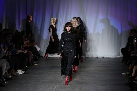 jill: NEW YORK, NY - FEBRUARY 13: : Models walk the runway finale during the Jill Stuart  Fall-Winter 2016 Collection Show on February 13, 2016 in New York City.