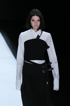 NEW YORK, NY - FEBRUARY 16: Model Kendall Jenner walks the runway wearing Vera Wang Collection Fall 2016 during New York Fashion Week on February 16, 2016 in NYC.