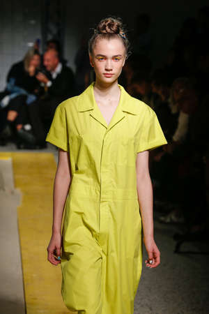isola: MILAN, ITALY - SEPTEMBER 24: A model walks the runway during the IM Isola Marras show as part of Milan Fashion Week Womenswear SpringSummer 2015 on September 24, 2015 in Milan, Italy.