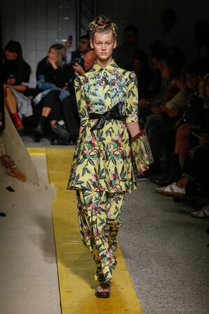 MILAN, ITALY - SEPTEMBER 24: A model walks the runway during the IM Isola Marras show as part of Milan Fashion Week Womenswear SpringSummer 2015 on September 24, 2015 in Milan, Italy.