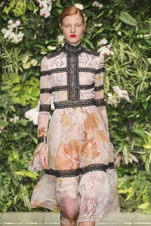 MILAN, ITALY - SEPTEMBER 27: A model walks the runway during the Laura Biagiotti fashion show as part of Milan Fashion Week SpringSummer 2016 on September 27, 2015 in Milan, Italy.